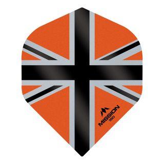 Mission Alliance-X - Union Jack 150 - No 2 Standard - Orange with Black Dart Flights - F1615