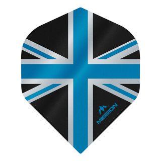Mission Alliance - Union Jack - No 2 Standard - 100 Micron - Black with Blue Dart Flights - F1620