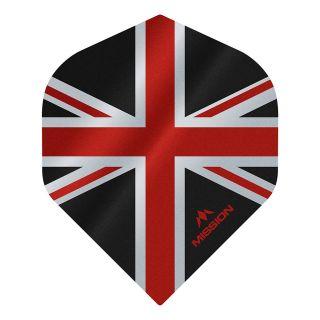 Mission Alliance - Union Jack - No 2 Standard - 100 Micron - Black with Red Dart Flights - F1621
