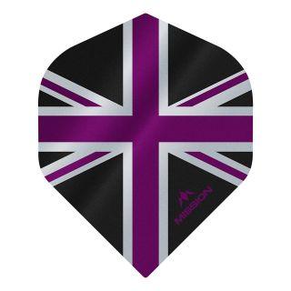 Mission Alliance - Union Jack - No 2 Standard - 100 Micron - Black with Purple Dart Flights - F1624