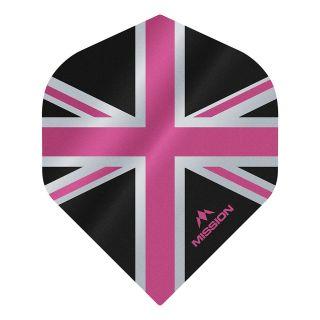 Mission Alliance - Union Jack - No 2 Standard - 100 Micron - Black with Pink Dart Flights - F1625
