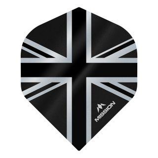Mission Alliance - Union Jack - No 2 Standard - 100 Micron - Black Dart Flights - F1626