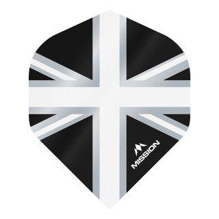 Mission Alliance - Union Jack - No 2 Standard - 100 Micron - Black with White Dart Flights - F1627