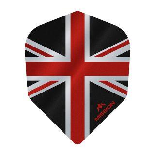 Mission Alliance - Union Jack - No 6 Shape - 100 Micron - Black with Red Dart Flights - F1629