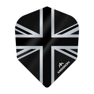 Mission Alliance - Union Jack - No 6 Shape - 100 Micron - Black Dart Flights - F1634