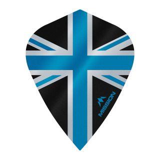 Mission Alliance - Union Jack - Kite - 100 Micron - Black with Blue Dart Flights - F1636