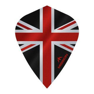 Mission Alliance - Union Jack - Kite - 100 Micron - Black with Red Dart Flights - F1637