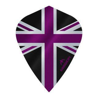 Mission Alliance - Union Jack - Kite - 100 Micron - Black with Purple Dart Flights - F1640
