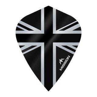 Mission Alliance - Union Jack - Kite - 100 Micron - Black Dart Flights - F1642
