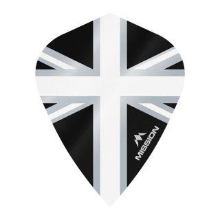 Mission Alliance - Union Jack - Kite - 100 Micron - Black with White Dart Flights - F1643