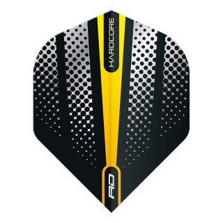 Hardcore Radical Yellow Flash Standard Dart Flights – F1688