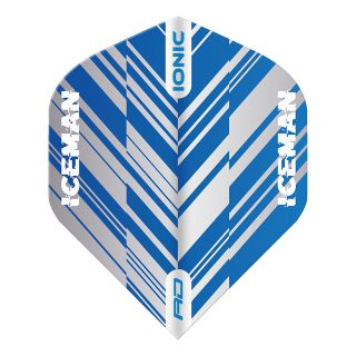 Hardcore Ionic Gerwyn Price Blue & White Stripe Standard Dart Flights – F1700