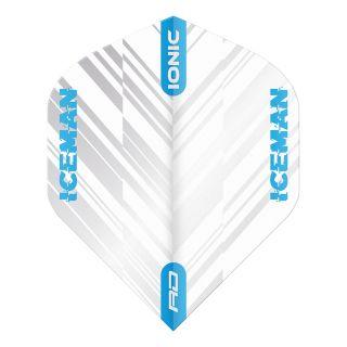 Hardcore Ionic Gerwyn Price White & Blue Stripe Standard Dart Flights – F1701