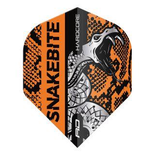 Hardcore Snakebite Coiled Snake Orange Standard Dart Flights – F1712