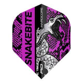 Hardcore Snakebite Coiled Snake Purple Standard Dart Flights – F1713