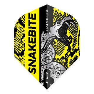 Hardcore Snakebite Coiled Snake Yellow Standard Dart Flights – F1715