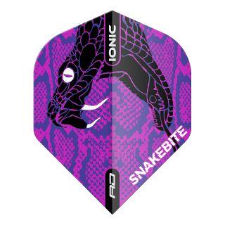 Hardcore Ionic Snakebite Purple Head Standard Dart Flights – F1717