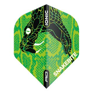 Hardcore Ionic Snakebite Green Head Standard Dart Flights – F1718