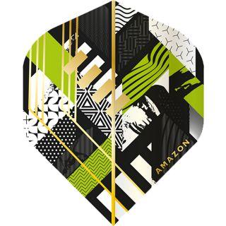 Amazon Abstract - No2 Standard Dart Flights - Black/Green -  F1738