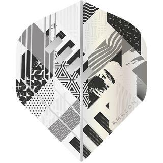 Amazon Abstract - No2 Standard Dart Flights - White/Grey -  F1747
