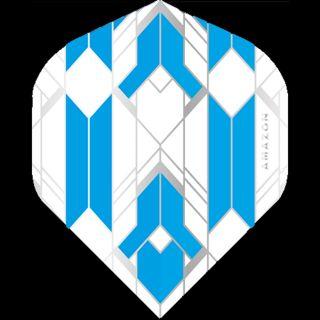 Amazon Glaze - No2 Standard Dart Flights - White/Blue -  F1752