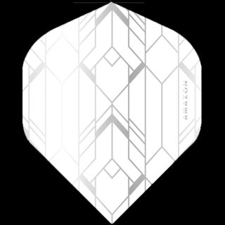 Amazon Glaze - No2 Standard Dart Flights - White/Clear -  F1753