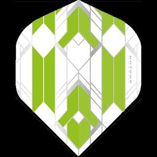 Amazon Glaze - No2 Standard Dart Flights - White/Green -  F1754