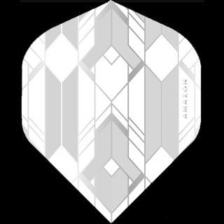 Amazon Glaze - No2 Standard Dart Flights - White/Grey -  F1755