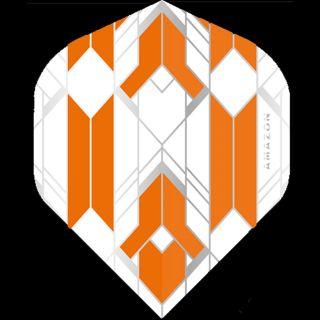 Amazon Glaze - No2 Standard Dart Flights - White/Orange -  F1756