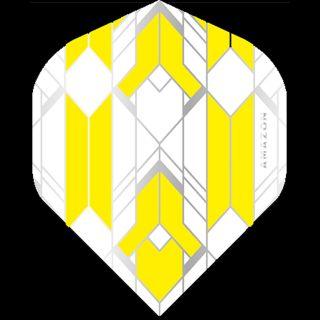 Amazon Glaze - No2 Standard Dart Flights - White/Yellow -  F1759
