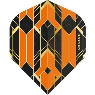 Amazon Glaze - No2 Standard Dart Flights - Black/Orange -  F1760