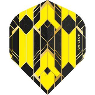 Amazon Glaze - No2 Standard Dart Flights - Black/Yellow -  F1761