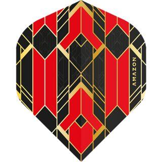 Amazon Glaze - No2 Standard Dart Flights - Black/Red -  F1762
