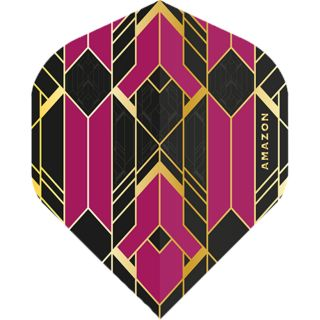 Amazon Glaze - No2 Standard Dart Flights - Black/Purple -  F1763