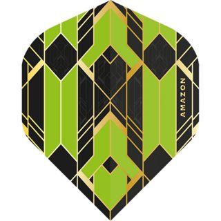 Amazon Glaze - No2 Standard Dart Flights - Black/Green -  F1764