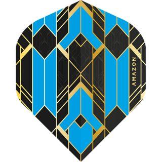 Amazon Glaze - No2 Standard Dart Flights - Black/Blue -  F1767