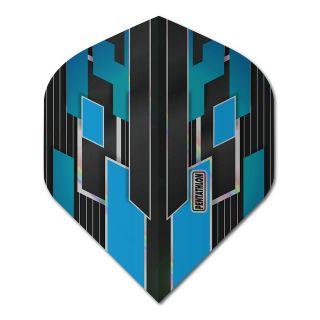 Pentathlon Shimmer - No2 Standard Dart Flights - Black/Blue -  F1776
