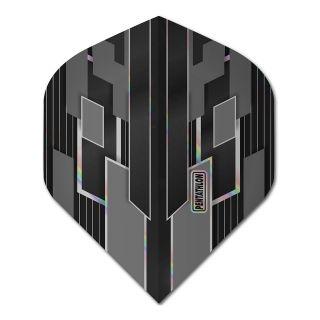 Pentathlon Shimmer - No2 Standard Dart Flights - Black/Grey -  F1777