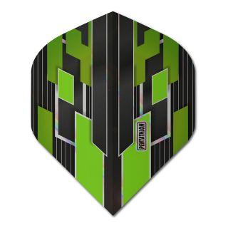 Pentathlon Shimmer - No2 Standard Dart Flights - Black/Green -  F1778