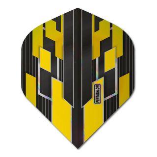 Pentathlon Shimmer - No2 Standard Dart Flights - Black/Yellow -  F1779