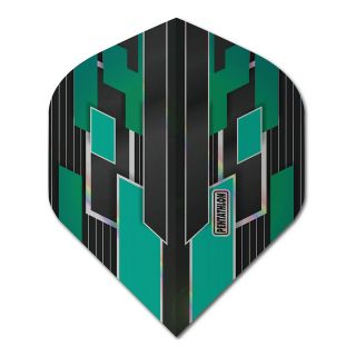 Pentathlon Shimmer - No2 Standard Dart Flights - Black/Jade -  F1780