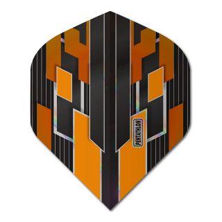Pentathlon Shimmer - No2 Standard Dart Flights - Black/Orange -  F1781