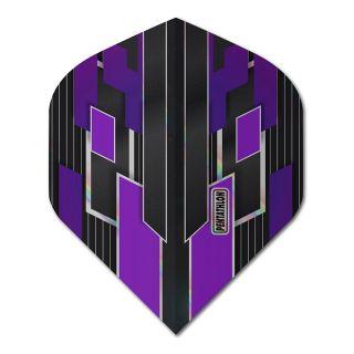 Pentathlon Shimmer - No2 Standard Dart Flights - Black/Purple -  F1782