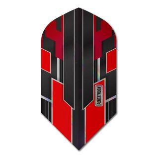 Pentathlon Shimmer - Slim Dart Flights - Black/Red -  F1783