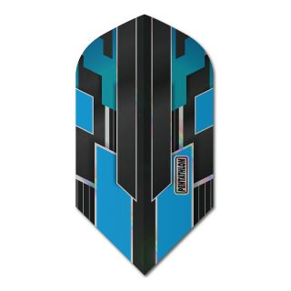 Pentathlon Shimmer - Slim Dart Flights - Black/Blue -  F1784