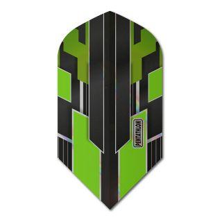 Pentathlon Shimmer - Slim Dart Flights - Black/Green -  F1785