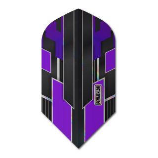 Pentathlon Shimmer - Slim Dart Flights - Black/Purple -  F1786