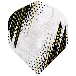 Amazon Oro - No2 Standard Dart Flights - White -  F1798