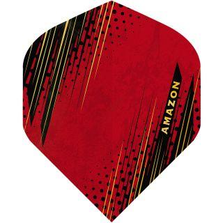 Amazon Oro - No2 Standard Dart Flights - Red -  F1799