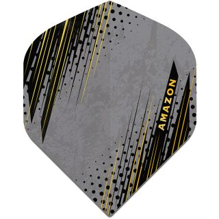 Amazon Oro - No2 Standard Dart Flights - Grey -  F1805